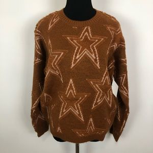 NWT love & adored stars a line brown sweater